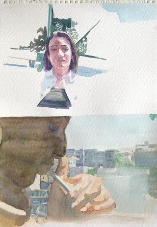 United Colors of World 10, 2009, aquarelle sur papier, 38x26,3 cm