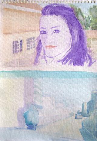 United Colors of World 11, 2009, aquarelle sur papier, 38x26,3 cm