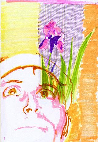 sans titre 5, 2009, feutre, stylo sur papier, 20,9x14,7 cm