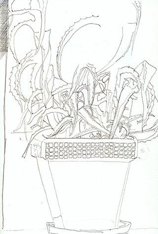 sans titre 10, 2009, stylo sur papier, 20,9x14,7 cm