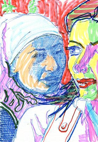 sans titre 16, 2009, feutre, stylo sur papier, 20,9x14,7 cm