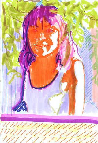 sans titre 21, 2009, feutre sur papier, 20,9x14,7 cm
