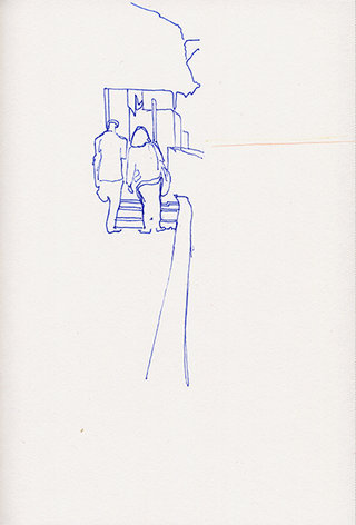 sans titre 29, 2009, feutre, stylo sur papier, 20,9x14,7 cm