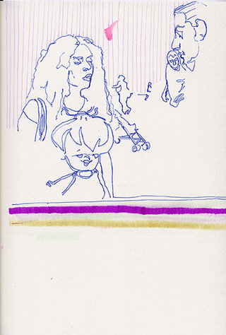 sans titre 30, 2009, feutre, stylo sur papier, 20,9x14,7 cm