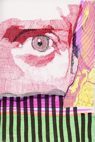 sans titre 31, 2009, feutre, stylo sur papier, 20,9x14,7 cm