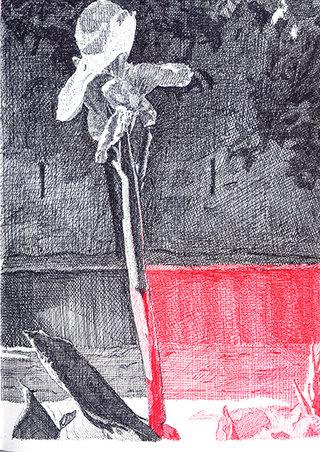 fleur 2, 2010, stylo sur papier, 20,9x14,7 cm