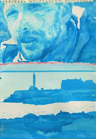 c'est pas l'homme qui prend la mer, 2009, encre sur papier, 38x26,3 cm