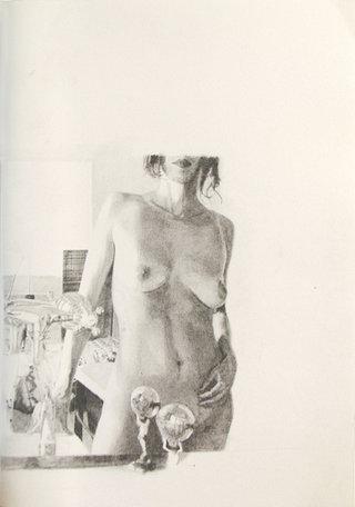 dommage à E.K., 2011, crayon sur papier, 44,7x32