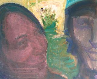 terrain des peintres, 2005, huile sur toile, 65x80 cm