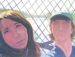 pont des arts, 2005, huile sur toile, 65x90 cm