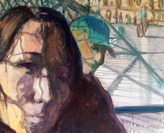 pont des arts 2, 2005, huile sur toile, 65x80 cm