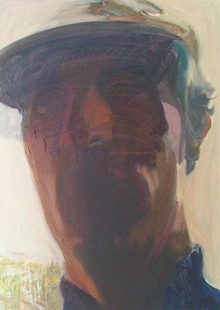 faucheur, 2005, huile sur toile, 90x65 cm