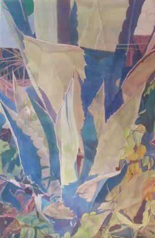 untitled I/XVII, 2017, acrylique sur papier, 100x65 cm