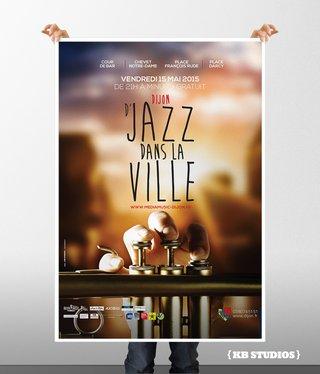 D'Jazz en ville 2015 - Dijon - affiches