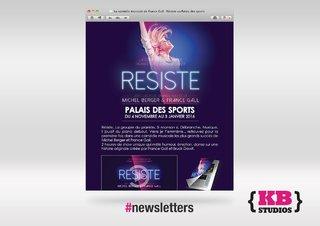 Newsletter RESISTE au Palais des Sports