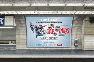 Tap Dogs aux Folies Bergère - affiches