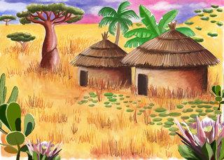Le village africain de Paki