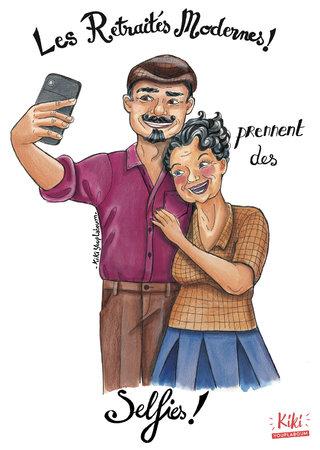 Les retraités modernes prennent des selfies