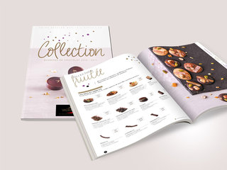 Catalogue de bonbons  de chocolats Valrhona