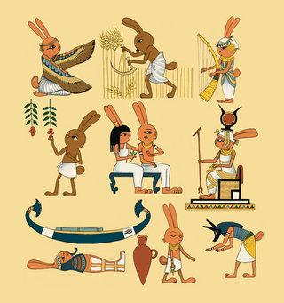 Lapins - Egypte