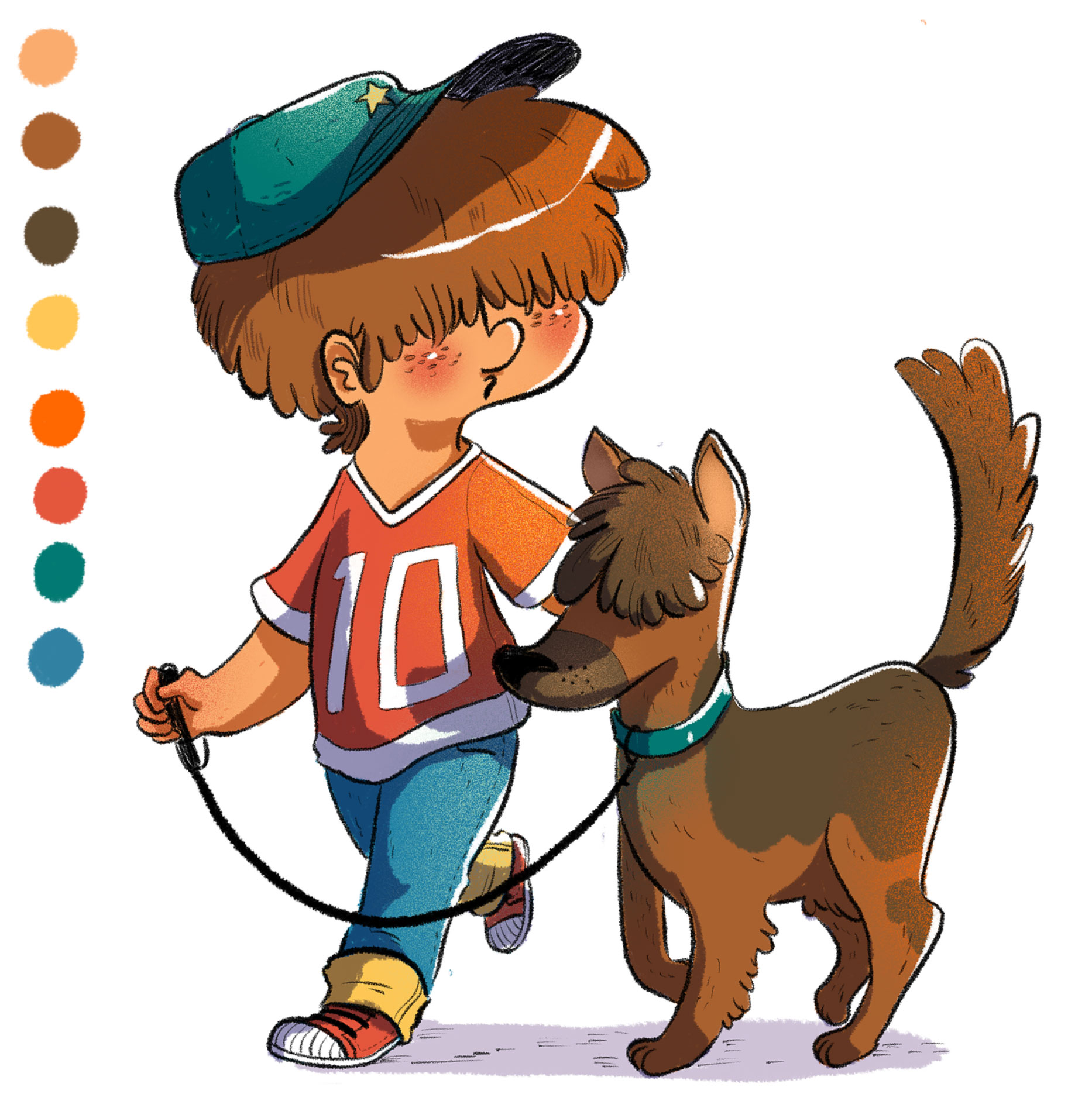 garçon et chien