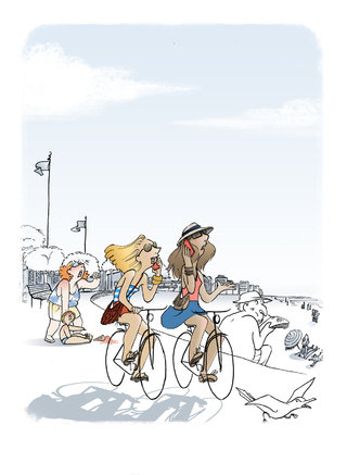 Bike Ride On The Seaside ...