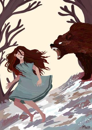Course avec l'ours