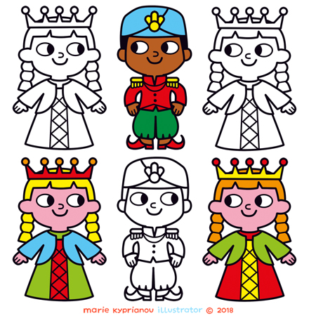Princess coloring book / Princesses à colorier