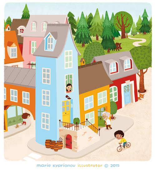 village de Boucle d'or / Goldilocks'  village / detail