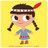 Turbulences Presse / petite indienne / indian girl