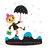 dame au parapluie / woman with her umbrella