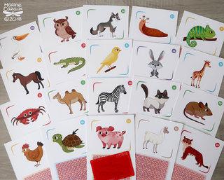 Cartes animaux pour le jeu L'arbre des mots © Jocatop Editions