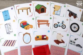 Cartes maison pour le jeu L'arbre des mots © Jocatop Editions