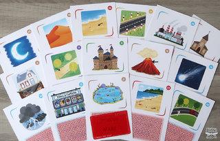 Cartes paysages pour le jeu L'arbre des mots © Jocatop Editions