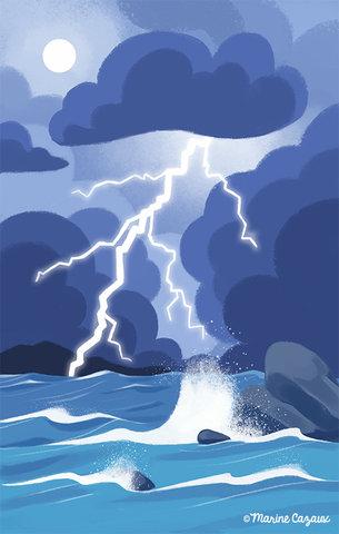 Orage marin - manuel CE2 © Hachette Education