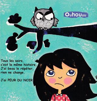 Illustration pour Victoire a peur du noir