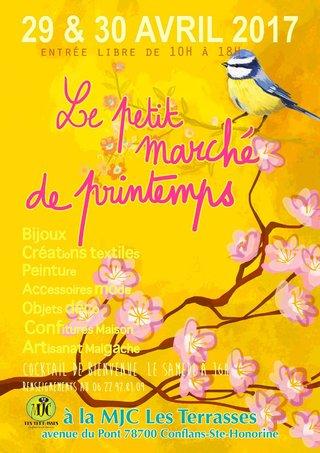 affiche pour marché de printemps
