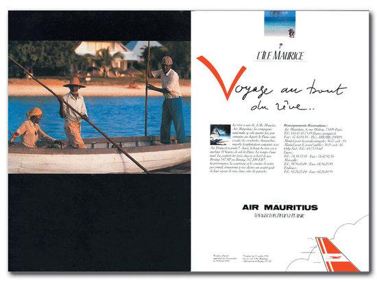 Campagne presse pour la compagnie mauricienne Air Mauritius