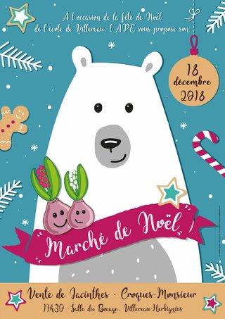 Affiche - Marché de Noël