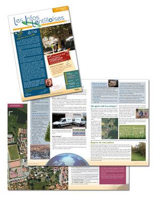 Mairie de Lentilly - Edition d'un bulletin municipal d'informations bimestriel