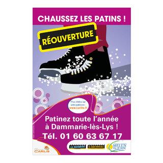 """Campagne d'affichage """"Réouverture"""" de la patinoire de la Cartonnerie"""