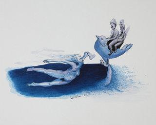 Petite femme contenant la mer et portant le ciel 2012