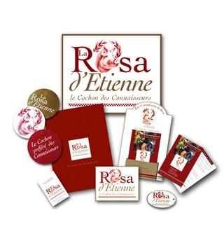DESIGN GRAPHIQUE  pour LA ROSA [produits charcutiers]