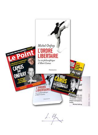 DESIGN GRAPHIQUE  pour Michel ONFRAY : L'ordre libertaire - La vie philosophique d'Albert Camus