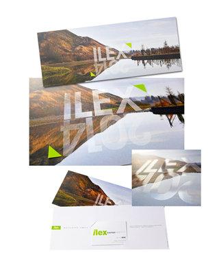 """DESIGN GRAPHIQUE  pour ILEX / PAYSAGES ET URBANISME > carte de v""""ux 2014"""
