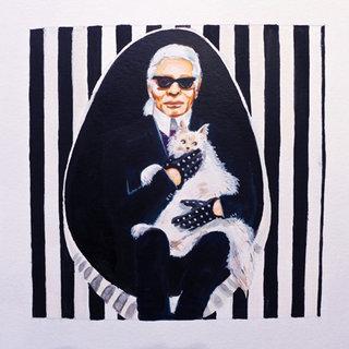 M. BLACK JACKET & POUPETTE / Karl Lagerfeld