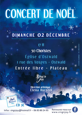 Affiche concert de Noël Sing'N Joy
