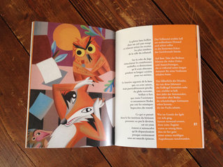 double pages pour le renard et le hérison
