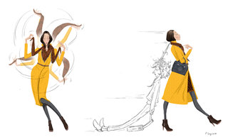 Illustration pour le blog de Longchamp