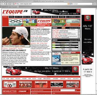Campagne de bannières Alfa Romeo 147
